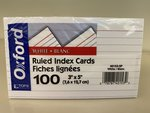 TOPS OXFORD 3X5 RULED INDEX CARDS