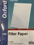 TOPS OXFORD 100 SHEETS FILLER PAPER COLLEGE RULED