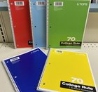 TOPS 1 SUBJECT NOTEBOOK 70 SHEETS