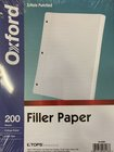 TOPS OXFORD 200 SHTS FILLER PAPER COLLEGE RULED